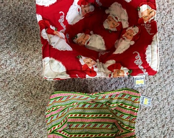 Christmas Microwave bowl cozies SET OF TWO / sizes