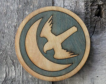 Arryn Game of Thrones Wood Coaster   Rustic/Vintage   Hand Stained and Glued