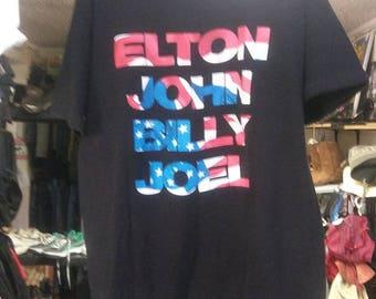 Elton John Billy Joel  1995 World tour tshirt xlarge