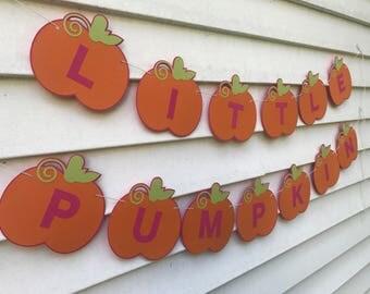 Pumpkin Birthday Banner, Pumpkin Baby Shower Banner, Pumpkin Party Decorations, Pumpkin Birthday, Pumpkin Shower - CHOICE OF COLORS