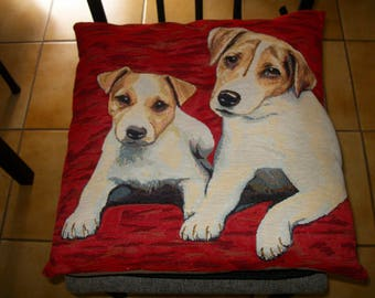 "Dog pattern cushion ""Jack Russell"""