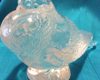 Vintage Lalique Crystal Art Glass Pigeon Bruges Bird Sculpture