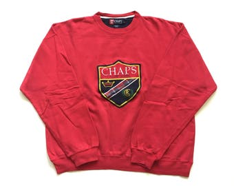 Vintage Ralph Lauren chaps crewneck sweatshirt size Xl all embroidered shield logo polo crest shirt