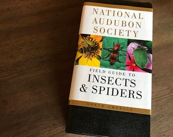 National Audubon Society Field Guide to Insects and Spiders - Insect Identification - Vintage Biology - Pocket Guide - Homeschool Book