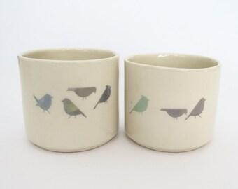 Set of 2 porcelain cups \ mugs