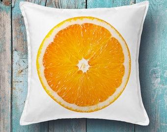Orange cushion cover - decorative pillow cover, throw pillow cover, pillow cover
