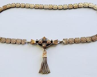 Victorian Gold Filled Tassel Necklace