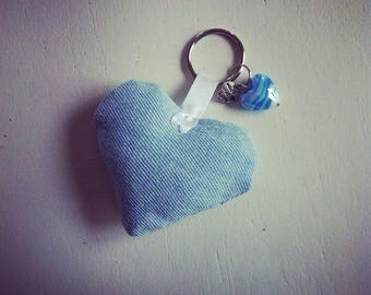 Key heart charms and Jean