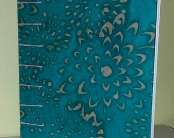 Turquoise Handmade Journal/Sketchbook/Diary with Coptic Binding (free shipping)