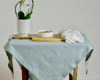 Washed Linen Tablecloth, Farmhouse Tablecloth, Ticking Stripe, Shabby Chic!