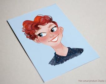 Custom Single/Couple Portrait Illustration, A4 size, DIGITAL PRINT