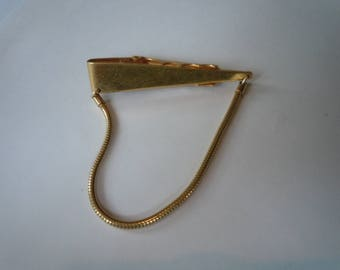 Cool 1950s Forster Tie Bar with Chain