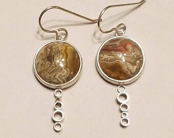 Jasper Loop Sterling Silver Earrings