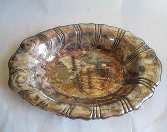 Silverplate Serving Dish - Art Nuevo - Wonderful - One of a Kind Piece