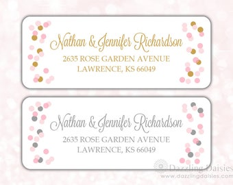 Return address labels (30) - Return address sticker - Adress labels - Wedding return address labels - Gold address labels (AW006)