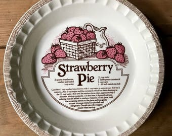 Royal China Strawberry Pie Plate