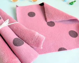 Lingette lavable biface toute douce- Rose - Pour bébés - Pour ados - Pour mamans - Soins du corps - Soin du visage - Tout doux - Zéro déchet