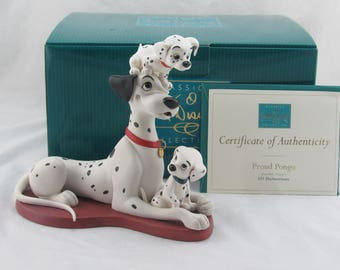 """WDCC """"Proud Pongo"""" Pongo with Puppies from 101 Dalmatians in Box with COA"""