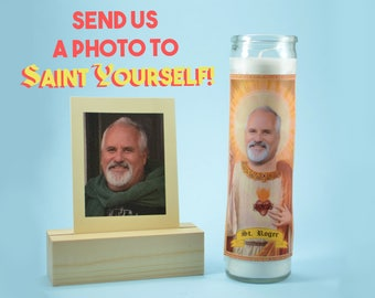 Funny birthday gift etsy the father customized prayer candle devotional candle funny saint candle funny birthday negle Choice Image