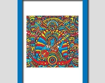 Limited Edition Print, A3 Art Print, Fine Art Print, Wall Art Print, Illustration Art Print, Art Poster, Art Deco, Original Illustration.