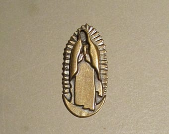 Our Lady of Guadalupe Pendant in Bronze
