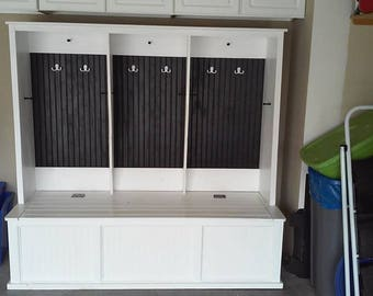 mudroom locker with trunk base