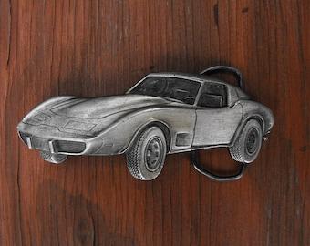 Belt Buckle, Corvette Belt Buckle, Vintage Brass Buckle, Belt Buckle, Vintage Belt Buckle, Vintage Buckle, Car Buckle,Corvette, Buckle