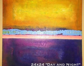 Day and Night Abstract Painting