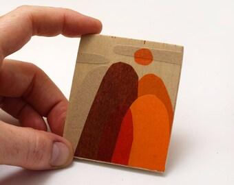 Original Artwork for the Modern Miniature Home - Orange Hills Huddled with Sun