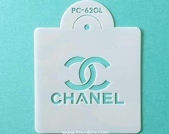 Designer Brand Stencil, Fashion Logo Stencil, Fashion Brand Stencil, Cake Decorating Stencil, Brand Logo Stencil, LV stencil, Cake Stencil