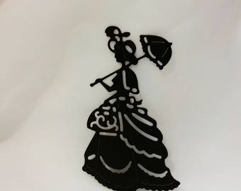 Lady Silhouette Die Cuts-10 Pcs.