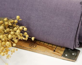 Softened lavender linen fabric - Violet purple linen- Stonewashed levander linen for clothing, bedding