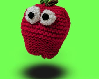 Alfred Apple Hand Knit Plush Pillow