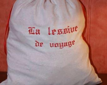 Bag clothes dirty linen white 1
