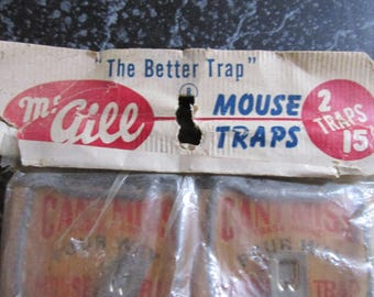 Vintage Mouse Traps in Original Package.
