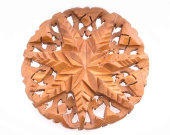 Wooden Snowflake Pin