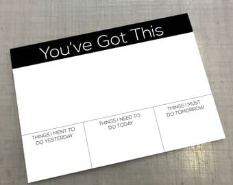 Office Desk pad a3 You've got this