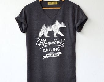 Bear shirt etsy bear and mountains shirt bear shirt forest t shirt high quality graphic t publicscrutiny Image collections