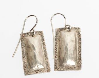 Navajo etched earrings