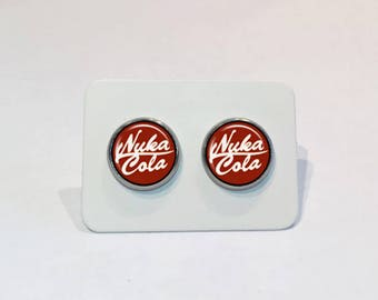Stainless Stud Earrings Nuka Cola Fallout