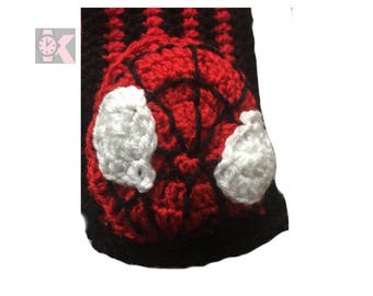 Superhero SpiderMan Handmade Wooly Scarf