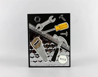 Father's Day Card - Hand Stamped Father's Day Card - Happy Father's Day Card -  Handmade Father's Day Card - Stampin' Up! Card