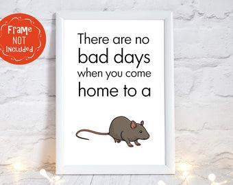 rat gifts, rat art, Rat print, Rat room decor, rat accessories, rat wall decor, various sizes available, PRINT ONLY