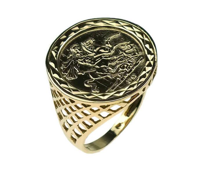 Mens Gold Sovereign Rings Uk