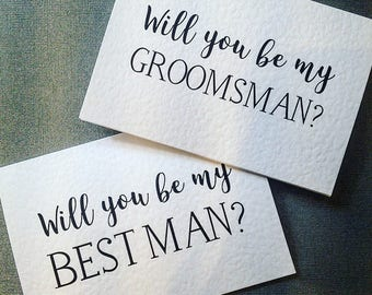 Will You Be My Best Man/Usher/Groomsman Card