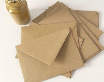 SALE - BULK! 100 A6 Kraft Envelopes - A6 size - 4x6 kraft brown ...