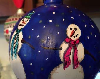 Custom Snowmen ornament for 2018
