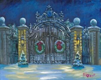 Breaker's holiday,  snow, original art, oil painting, landscape art, landscape