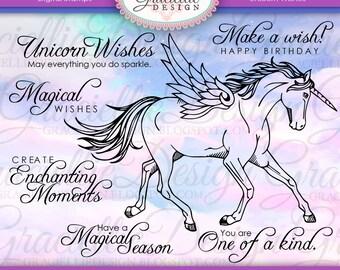 Unicorn Wishes Digital Stamp Set