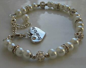 Bride to be bracelet, bridal shower gift, gift from groom, bride to be gift, gift from maid of honor honour